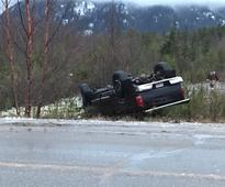 RCMP investigating single vehicle rollover in Thornhill