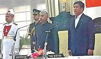 Jarkar Gamlin inducted into Khandu Ministry