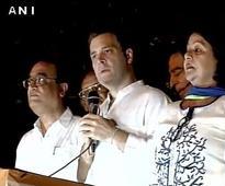 At 'Mashaal Juloos' sans 'Mashaal', Rahul attempts to corner Kejriwal, Modi