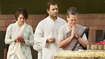 In Pics| President Pranab Mukherjee, Gandhi family and others pay tribute on Rajiv Gandhi's 26th death anniversary