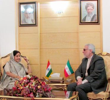 Sushma Swaraj in Iran with an aim to boost ties