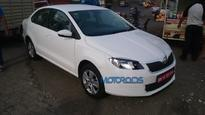 Facelifted Skoda Rapid spotted on test