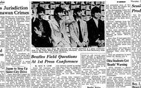 Aviator dazzles Emperor; Poets inaugurate new national association; Beatles face press; Mount Unzen erupts
