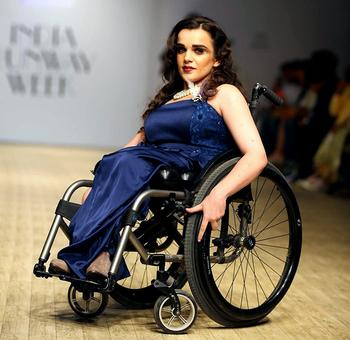 She's the world's first fashion model on a wheelchair