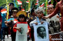 Students attend commemoration of Kartini Day in Jakarta, Indonesia