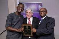 Stanley M. Bergman Accepts NYU Africa House's Leadership Award On Behalf Of Bergman Family And Henry Schein,..