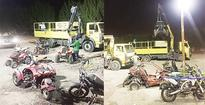 20 motorbikes, five vehicles seized in security sweep