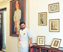Royal! Saif Ali Khan Poses at Pataudi Palace