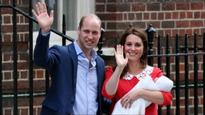 See pics: Prince William and Kate Middleton pose with their newborn royal baby