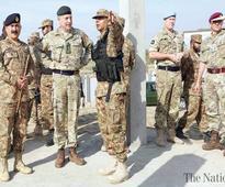 UK army chief visits NWA