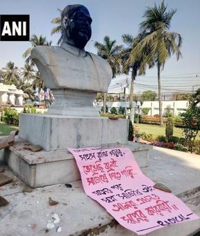 Syama Prasad Mukherjee's bust vandalised; PM expresses strong disapproval