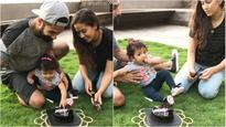 In Pics: Shahid Kapoor rings in wife Mira Rajput's birthday but it was baby Misha who stole the show