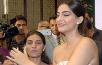 Sonam Kapoor during a press conference to announce the launch of her mobile application