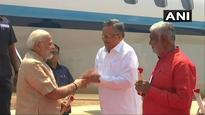 PM Modi arrives in Chhattisgarh to roll out Ayushman Bharat scheme