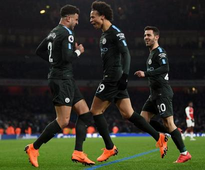 PHOTOS: Sparkling City thrash Arsenal again to close in on title