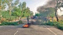 Jats sit on tracks; rail & road traffic blocked