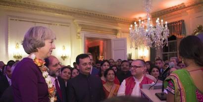 British PM hosts 2016 Diwali reception at Downing Street