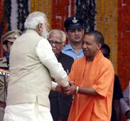 Together in Gujarat: PM Modi and Yogi Adityanath