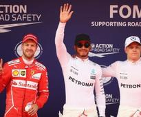Chinese Grand Prix: Lewis Hamilton romps to pole position, Sebastian Vettel comes 2nd