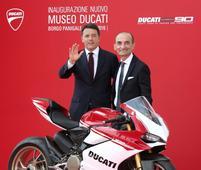 Italian prime minister inaugurates new Ducati museum