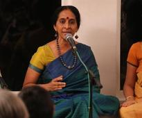Bombay Jayashree enthralled the audience in a musical event at Alwarpet in Chennai