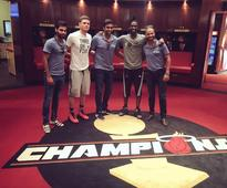 Ashwin, Dhawan, Bhuvi visit home arena of NBA Miami Heats