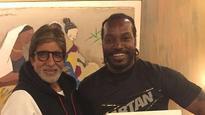 When Big B Met Chris Gayle Before India vs West Indies Semifinal