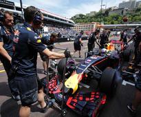 Daniel Ricciardo Tops Second Free Practice in Monaco, Lewis Hamilton Struggles