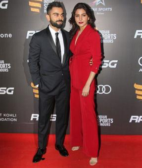 PHOTOS: 'Power Couple' Anushka-Virat up style quotient at Indian Sports Honours