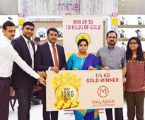 Malabar Gold gifts four lucky winners 1kg gold