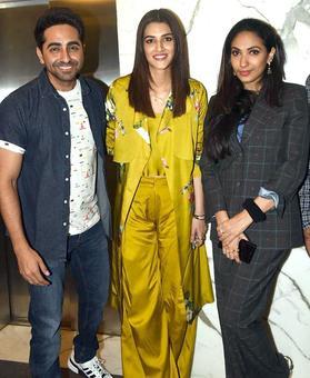 Ayushmann, Kriti, Yami watch PadMan