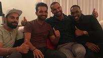 SEE PICS: Dwayne Bravo plays host to MS Dhoni, Virat Kohli, and Team India