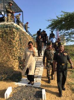 Defence minister visits Sir Creek
