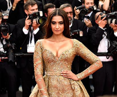 Cannes 2017: Sonam's golden glamour on display