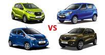 Tech Spec Comparison: Datsun RediGO vs Renault Kwid vs Hyundai Eon vs Maruti Suzuki Alto 800