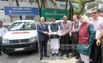 India gifts two ambulances to National Freedom Fighters Foundation