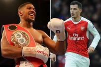 Arsenal star Granit Xhaka sends Anthony Joshua good luck message ahead of world heavyweight title defence