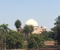 Finial at Humayun's tomb restored