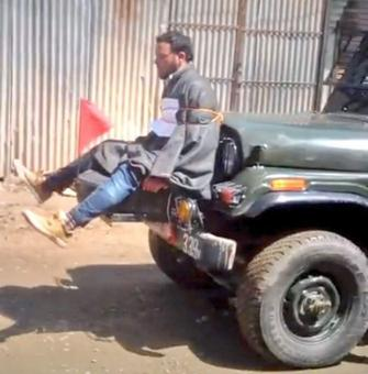 Police file FIR against army for tying man to jeep in Jammu-Kashmir