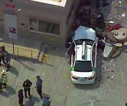 Cab hits pedestrians near Boston Airport