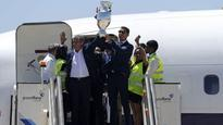 Euro champions Portugal arrive to hero's welcome, presidential honour