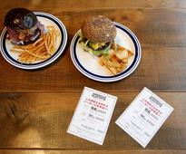 Japanese cafe flips burgers in contest inspired by U.S. election