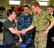 'Like Iron Man' Prince Harry meets with fellow warriors wounded in combat