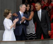 Michelle Obama, George Bush become new besties after sweet embrace