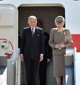 Emperor, empress return from trip to Philippines to mourn war dead