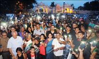 Save Chamundi Hill Campaign: Concerned citizens take out Candle-Light March