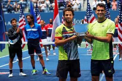 US Open: Rojer makes political point in doubles triumph with Tecau