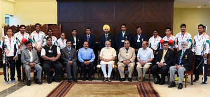 PM conveys best to Rio Games contingent, says 200 Olympians target for 2020