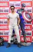 Prateik Babbar with a mystery woman, Varun launches Captain America figurines