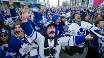 Happy Maple Leafs fans cheer NHL draft lottery